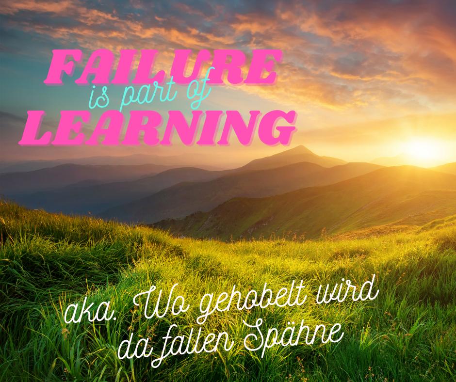 Fehler gehoert zum Lernen